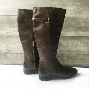 NWOB Sam Edelman dark brown leather tall boots